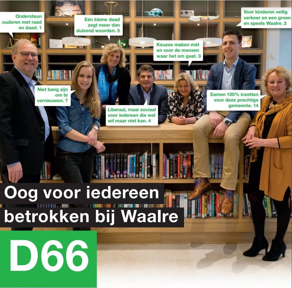 Kieslijst D66 Waalre Gemeenteraadsverkiezingen 2018