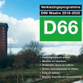 Verkiezingsprogramma D66 Waalre 2018-2022